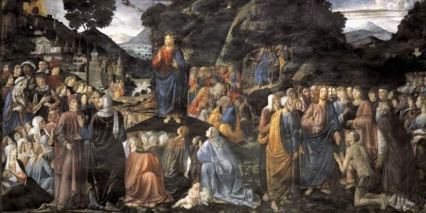 Le Sermon sur la montagne, par Cosimo Rosselli, chapelle Sixtine.