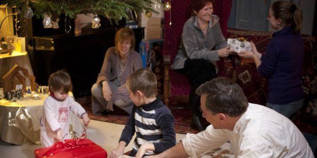 Famille à Noël