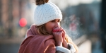 Femme dans le froid
