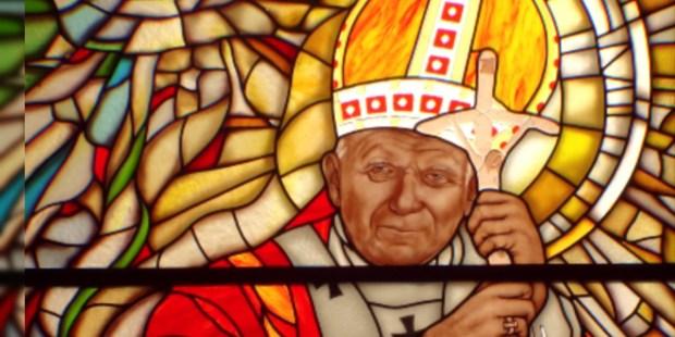 Vitrail représentant Jean Paul II