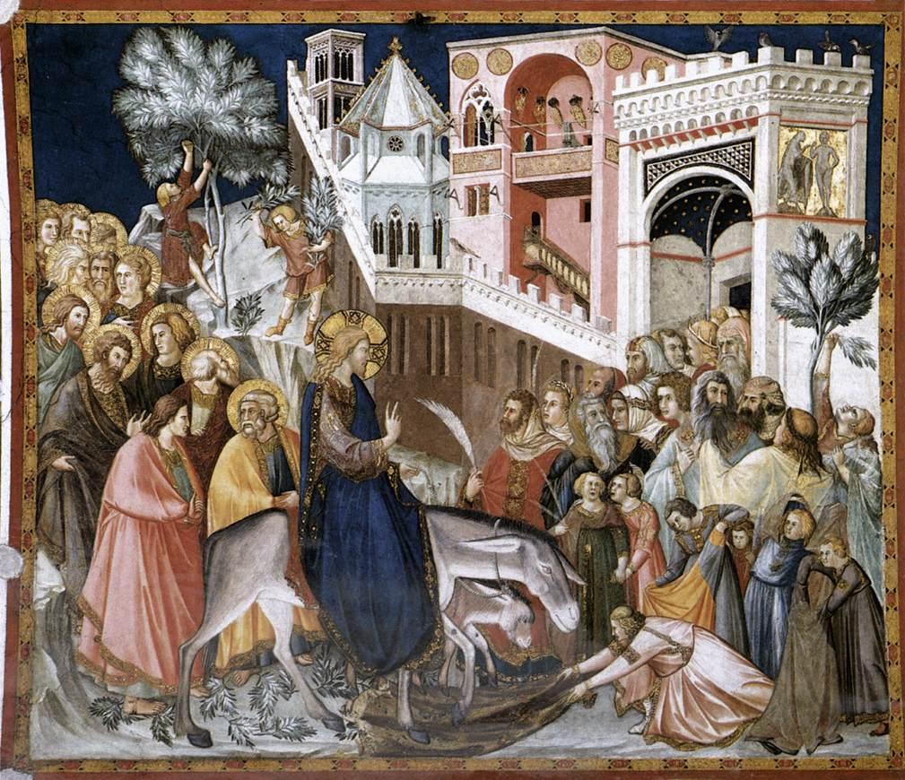 Pietro Lorenzetti, l'entrée à Jérusalem