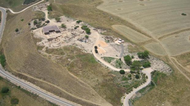 Vue aérienne de la ville d'Haçor