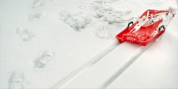Luge sur la neige
