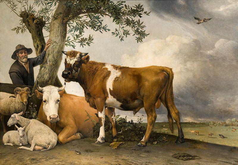Les taureaux, de Paulus Potter