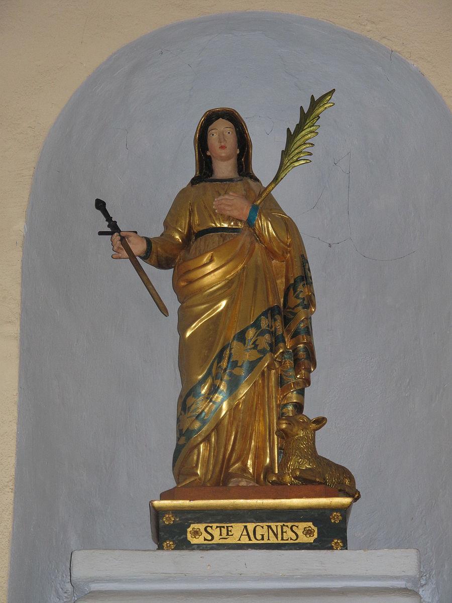 Statue de Sainte-Agnès