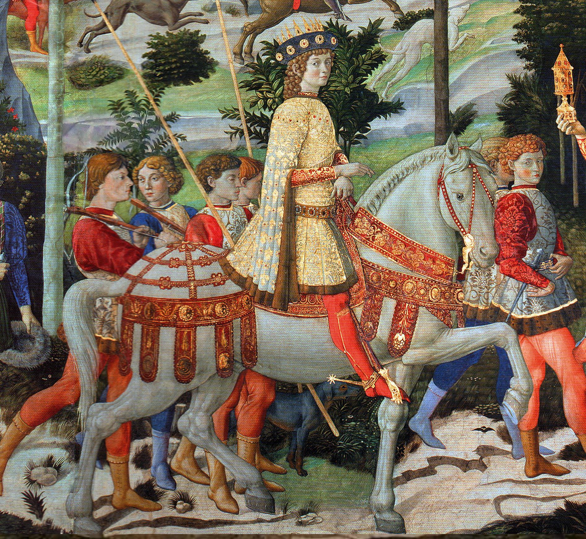 procession du plus jeune roi, gozzoli