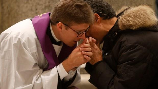 PRIEST, CONFESSION, MAN
