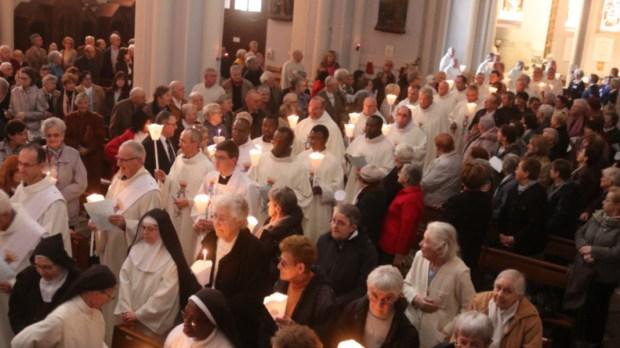 Messe de la chandeleur à la basilique Notre-Dame de Buglose.