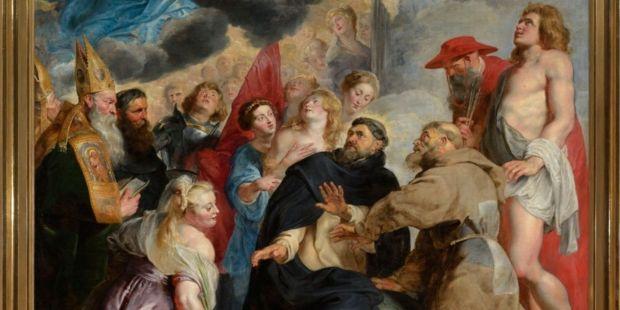 Les saints préservant le monde de la colère du Christ - Peter Paul Rubens