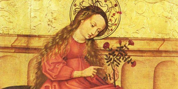 Vierge au jardinet