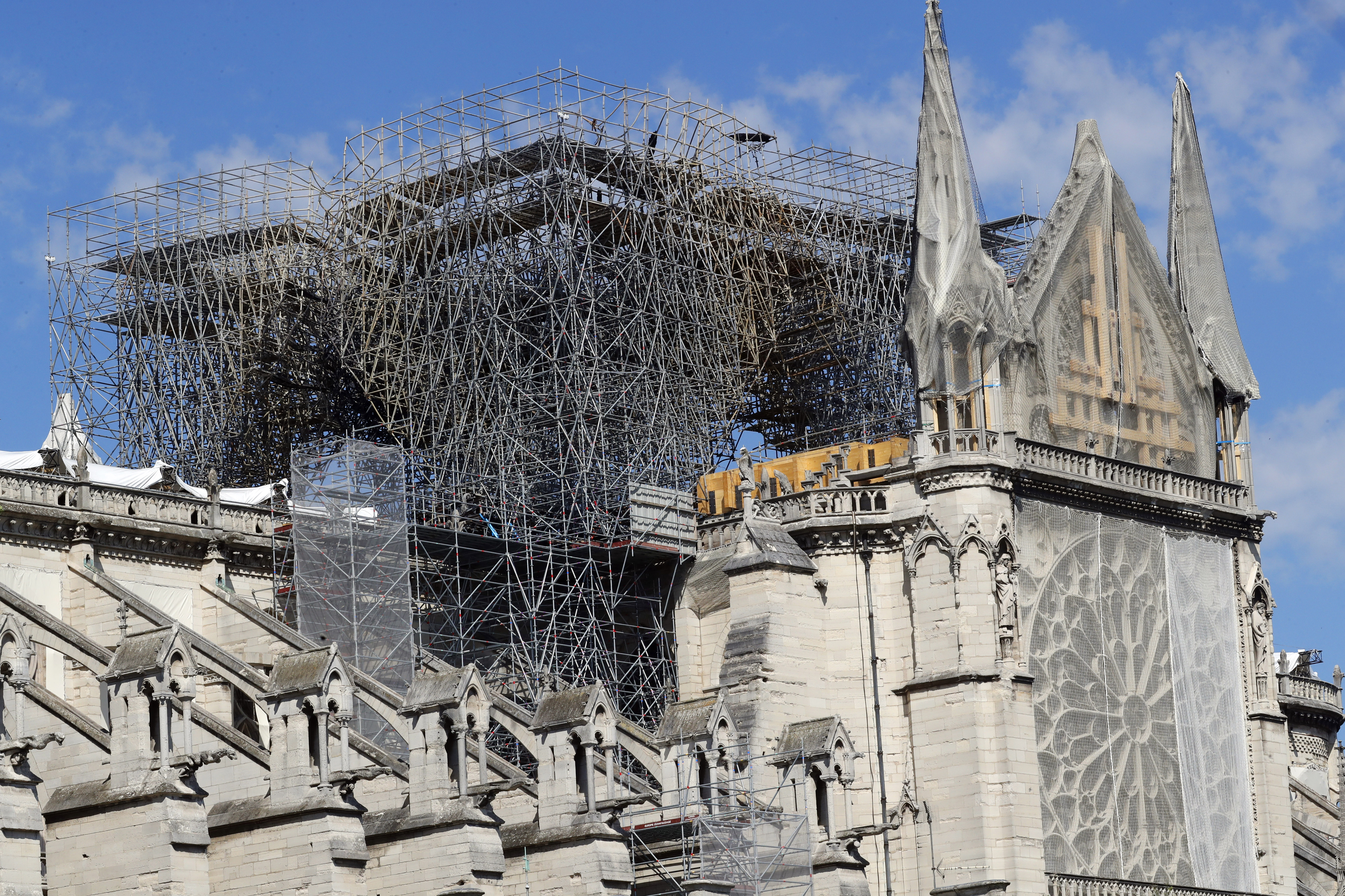 chantier de Notre Dame de Paris