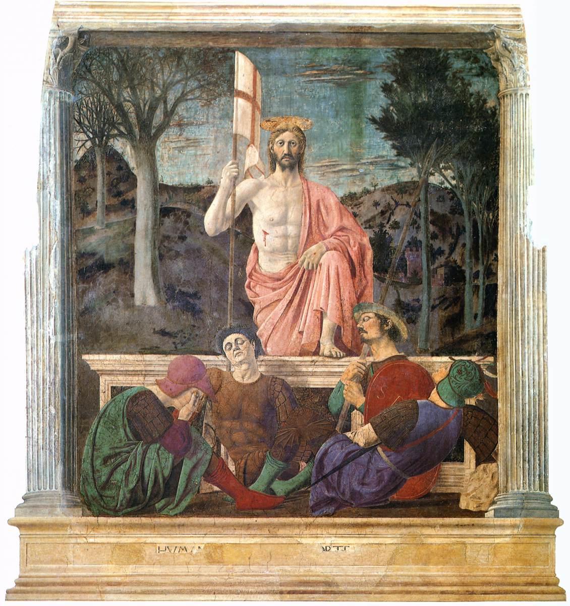 Piero della Francesca «La Résurrection» Museo Civico di Sansepolcro