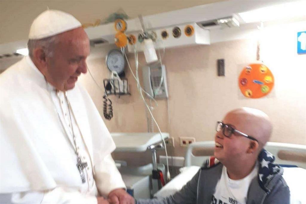 Rencontre entre le pape François et Vincenzo