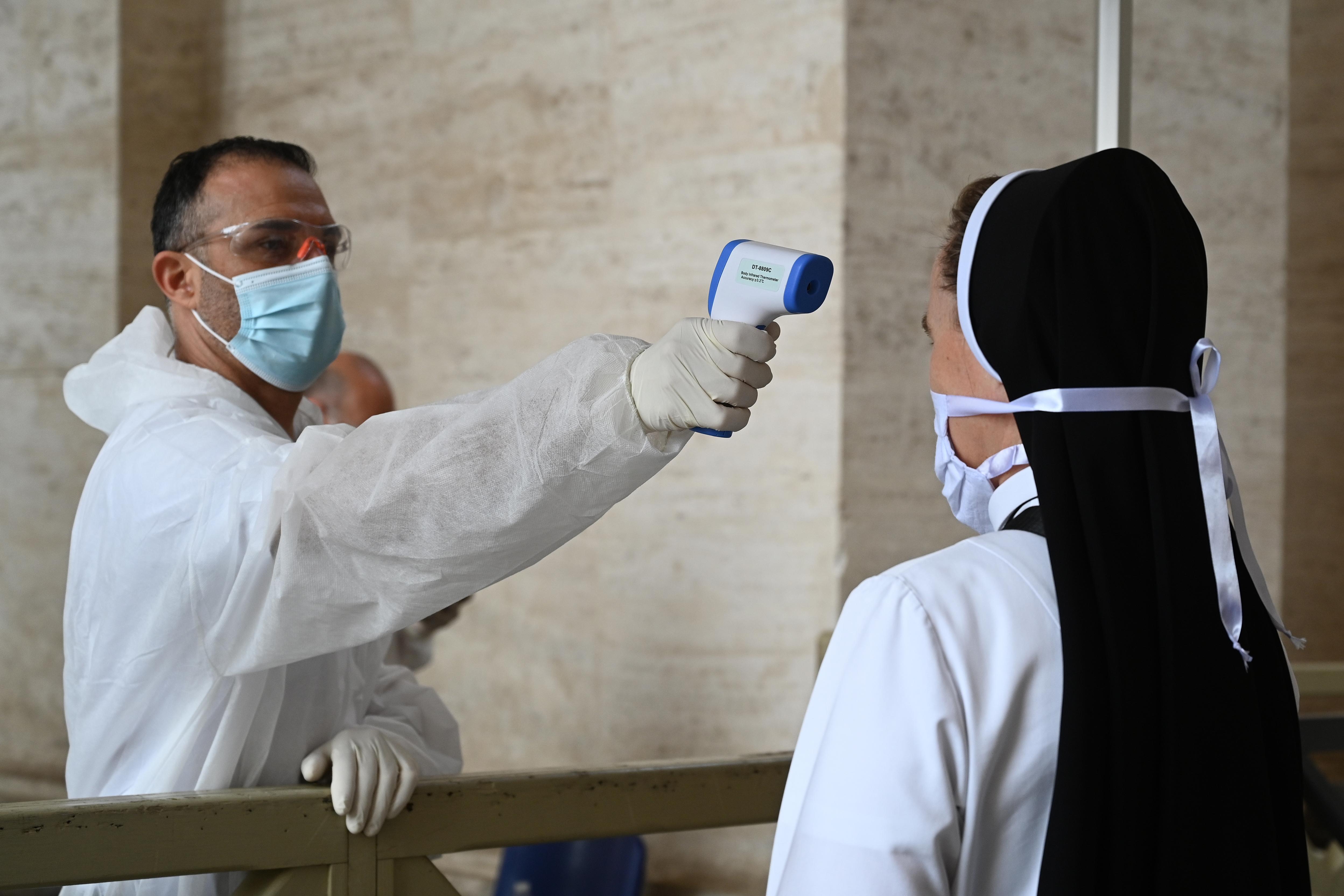 contrôle de température au vatican