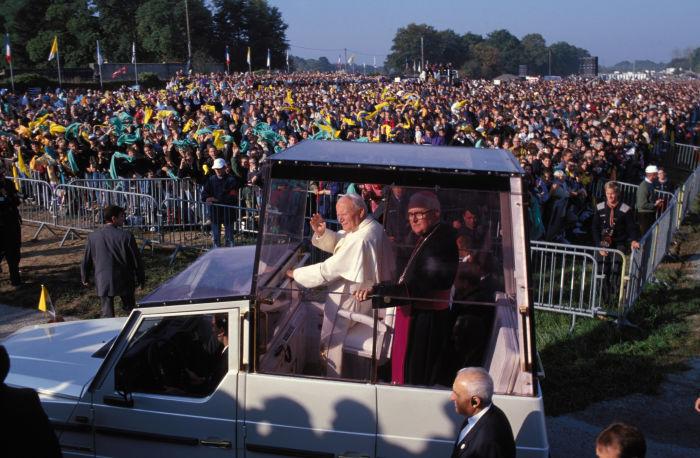 Visite du pape Jean Paul II a Ste Anne d'Auray,