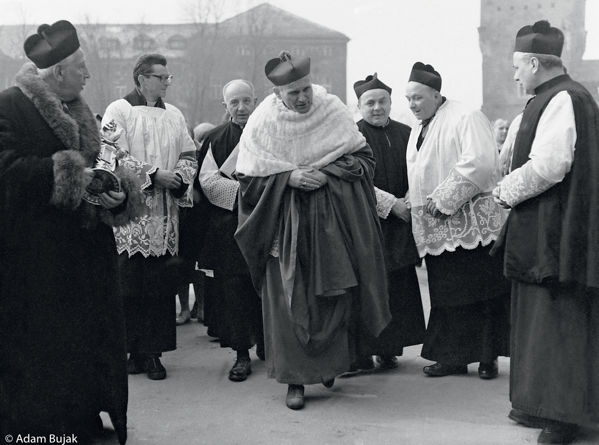 INGRES OF ARCHBISHOP KAROL WOJTYLA, THE WAWEL CATHEDRAL OF CRACOW, MARCH 8, 1964.