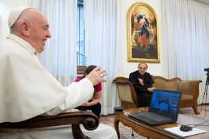 WEB2-POPE FRANCIS-VISIOCONFERENCE-LAZARE