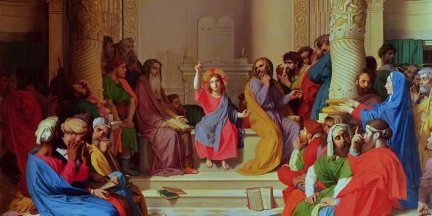 WEB2-INGRES-JESUS AU MILIEU DES DOCTEURS-DOMAINE PUBLIC