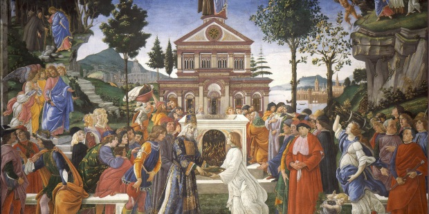 BOTTICELLI TEMPTATION OF CHRIST