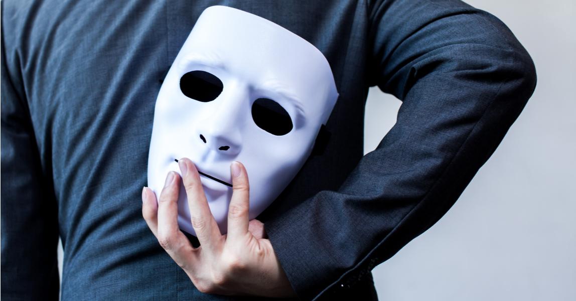 Businessman, mask