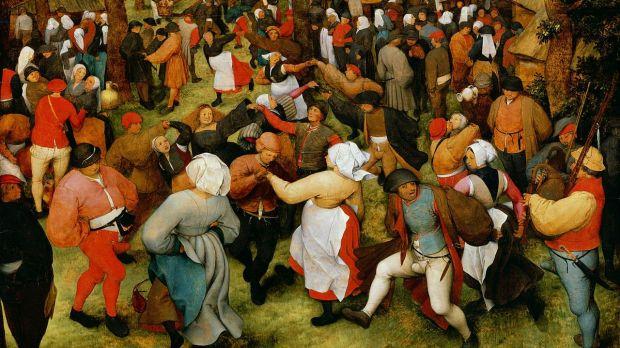 Brueghel l'ancien, La Danse de la mariée