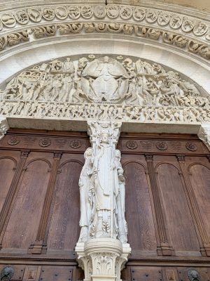 Tympanum of St Lazare d'Autun cathedral