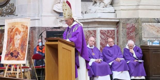 Mgr Dominique Rey - enterrement de Michael Lonsdale