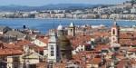 Panoramic aerial view city of Nice