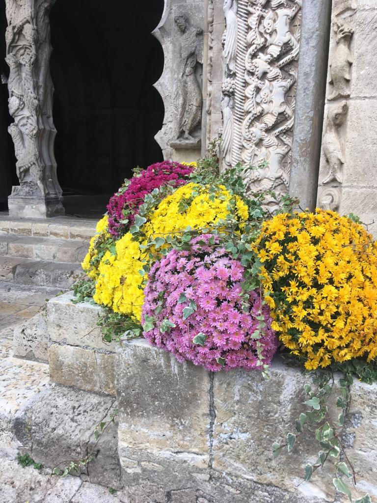 fleurs église de Moissac