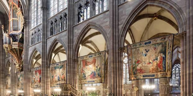 Tapisseries de la vierge de la Vierge à Strasbourg