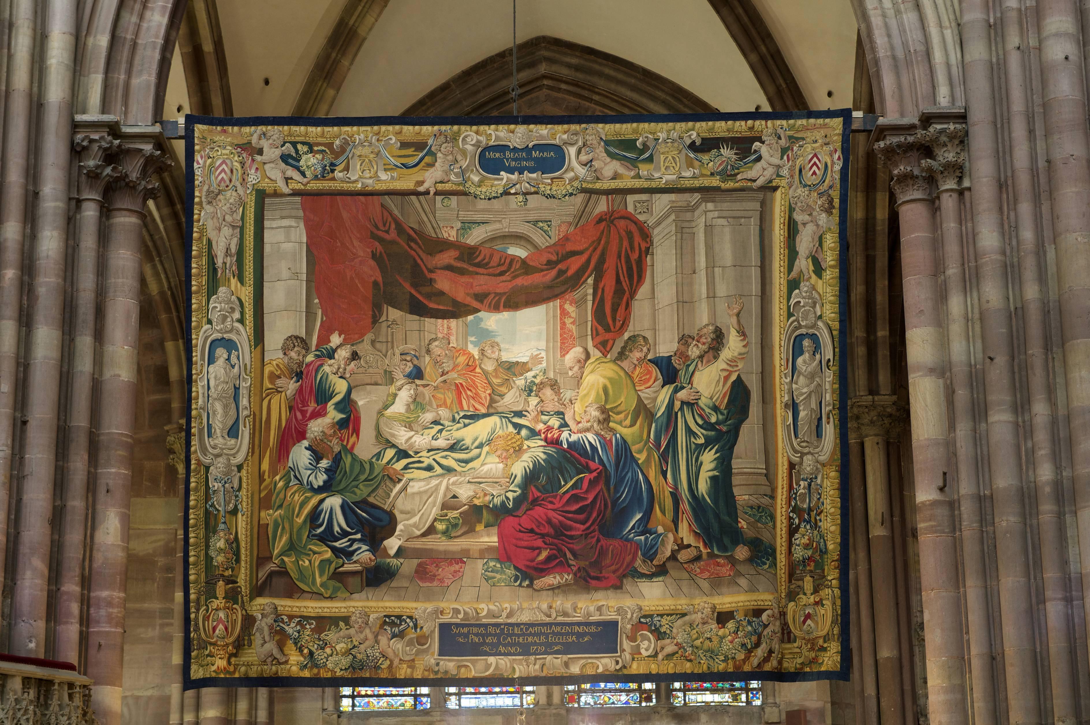 tapisserie de la vierge de la vierge à Strasbourg