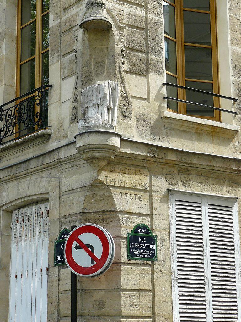 statue sans tête rue Le Regrattier