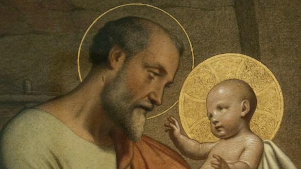 saint joseph et l'enfant jésus