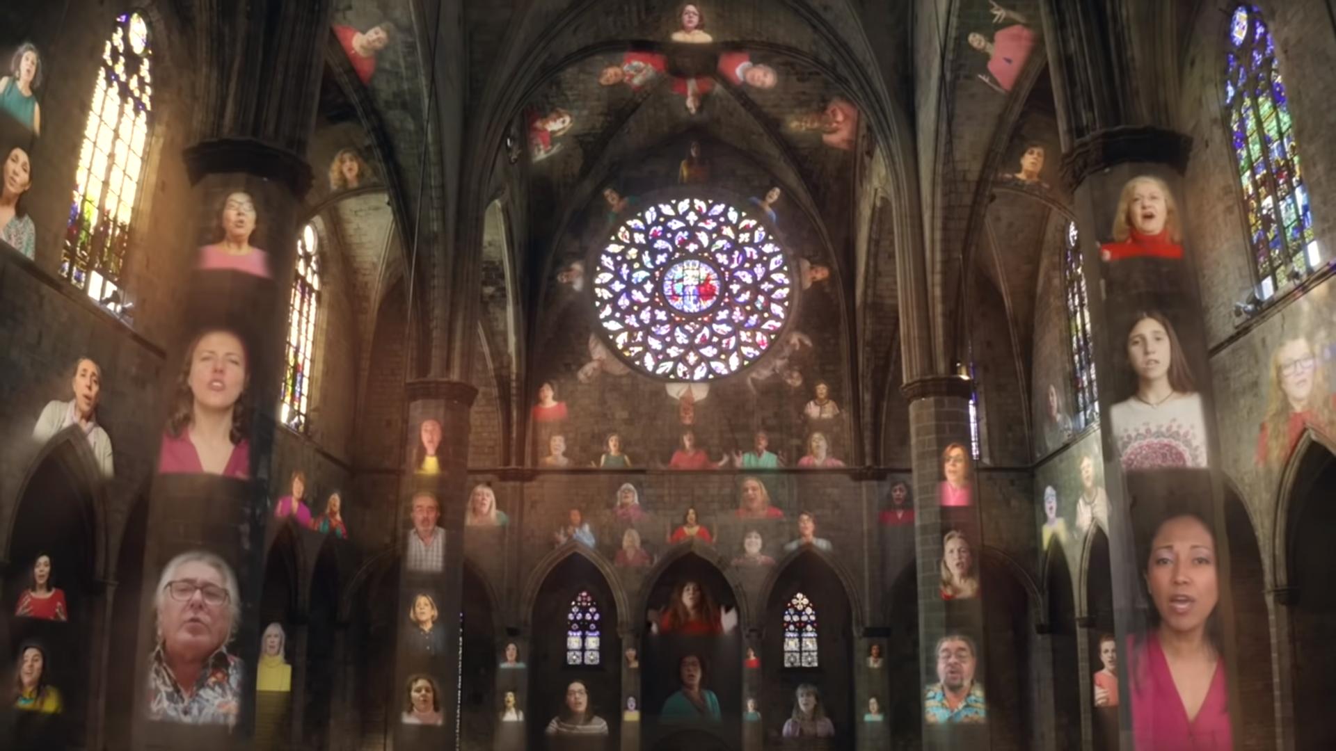 """❤ Découvrez le """"Alléluia"""" de Haendel dans une vidéo saisissante ❤ Video-mapping-Barcelone"""