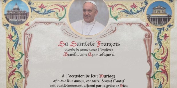 pape françois bénédiction apostolique