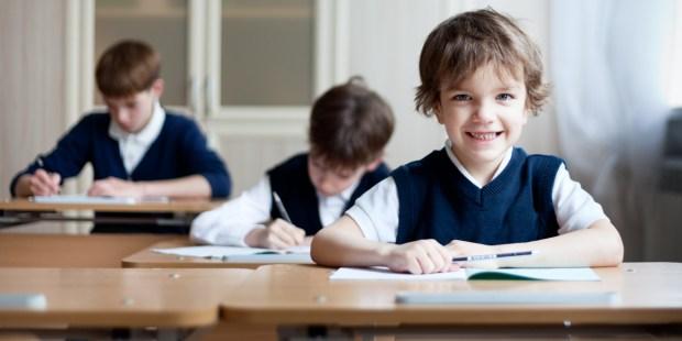SMILING, CHILD, SCHOOL