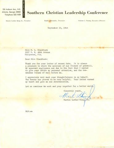 Martin Luther King's letter