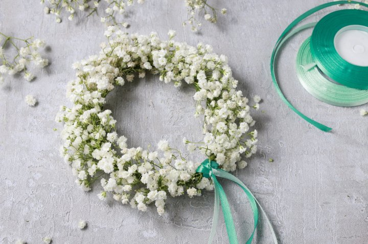 first communion wreath, step by step, tutorial