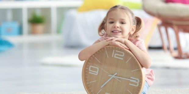 clock, time, children,