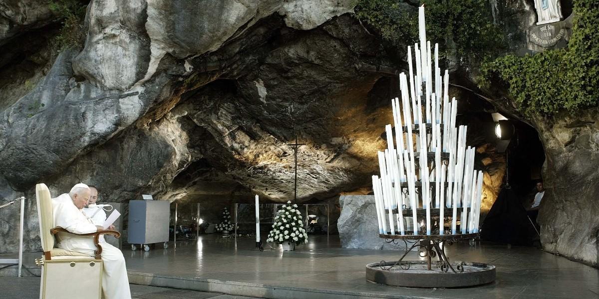 La prière des malades à Notre Dame de Lourdes écrite par Jean Paul II