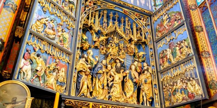 retable basiique sainte marie de cracovie