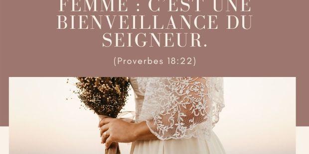 Les versets bibliques pour inspirer votre mariage