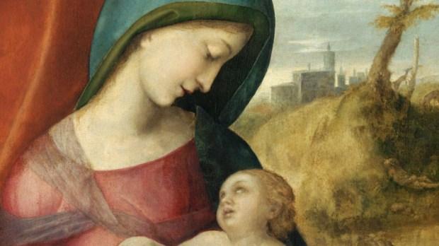 VIRGIN MARY AND CHILD BY CORREGGIO