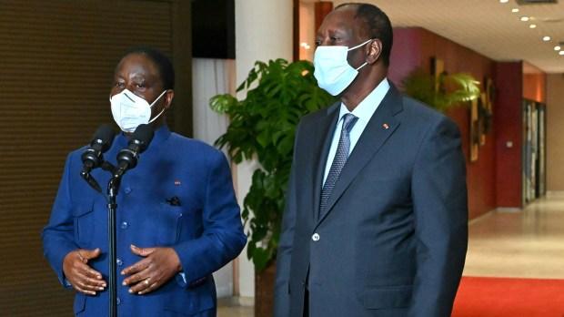 Henri Konan et Alassane Ouattara