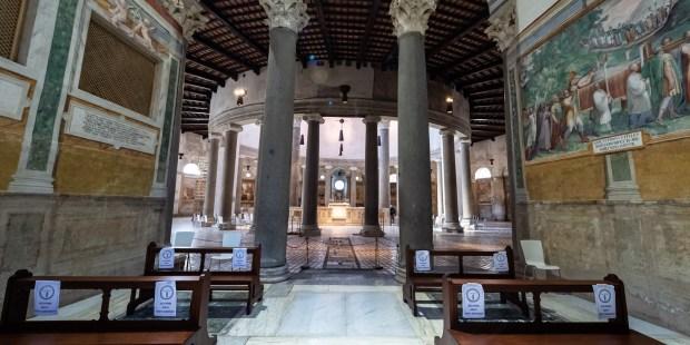 Diapo : basilique Saint-Étienne-le-Rond à Rome