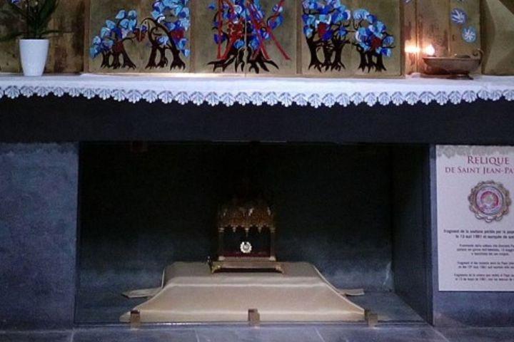Relique Jean Paul II Lourdes