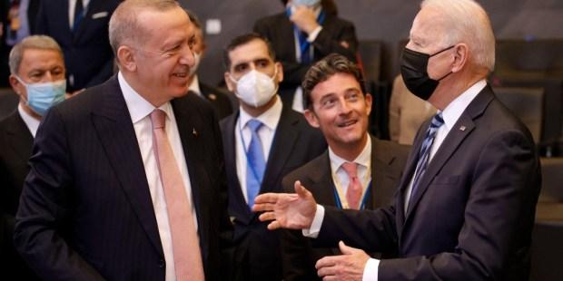 Joe Biden et Erdogan