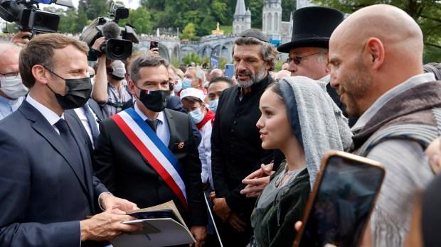 Macron à Lourdes