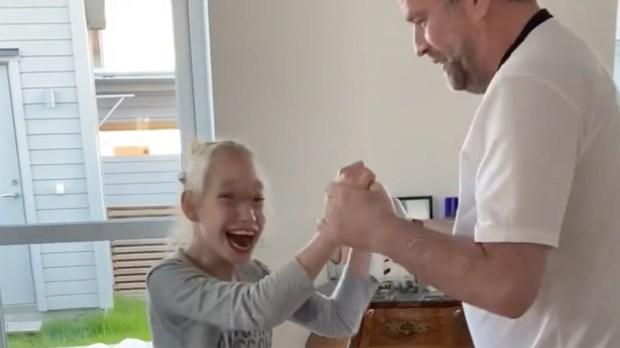 Freya and Dad