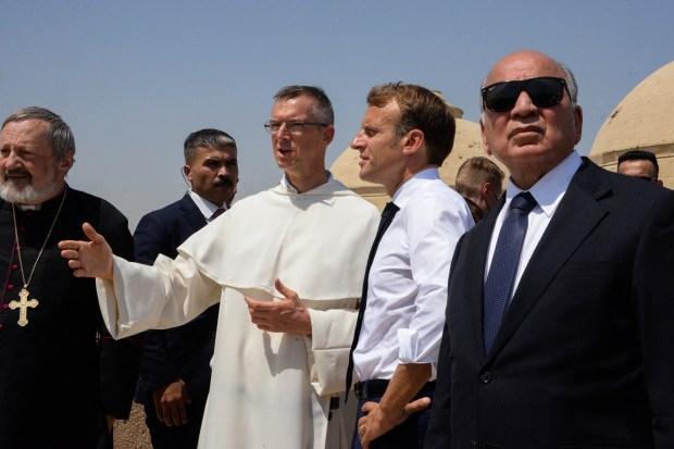 Emmanuel Macron Mossoul